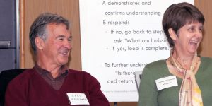 Catherine Conner and Gary Friedman are teachers at our top mediation training.